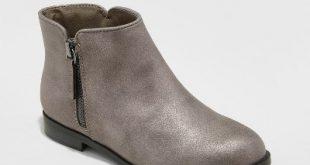 Girls' Jani Metallic Ankle Boots - Cat & Jack™ : Target