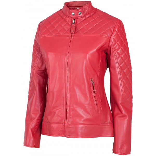 Cafe Racer Leather Jacket for Ladies | Leather Jacket Master
