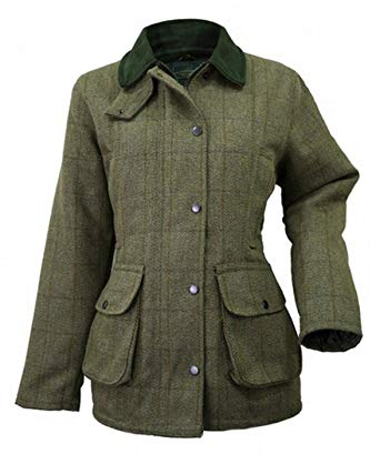 Ladies Tweed Jacket, Green: Amazon.co.uk: Clothing
