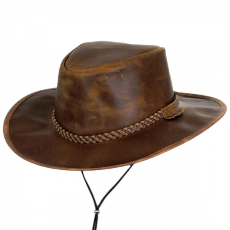Head 'N Home Crusher Leather Outback Western Hat Western Hats