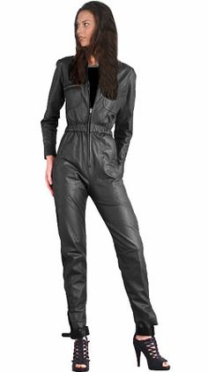 12 Best Leather Jumpsuits images | Leather jumpsuit, Black leather