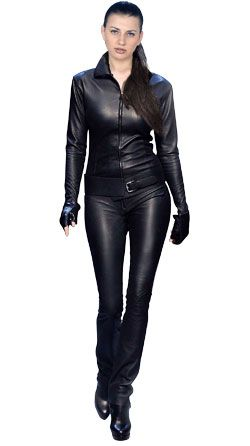 Leather jumpsuits designed for   women