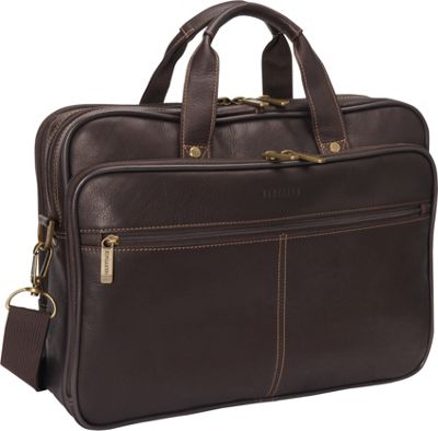 Heritage Colombian Leather Double Compartment Laptop Bag - eBags.com