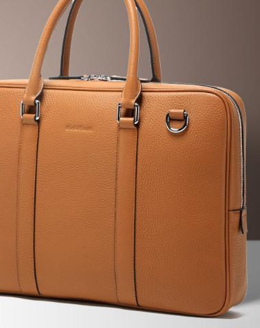 Leather Mens Briefcase Handbag Shoulder Bag laptop Bag Business Bag