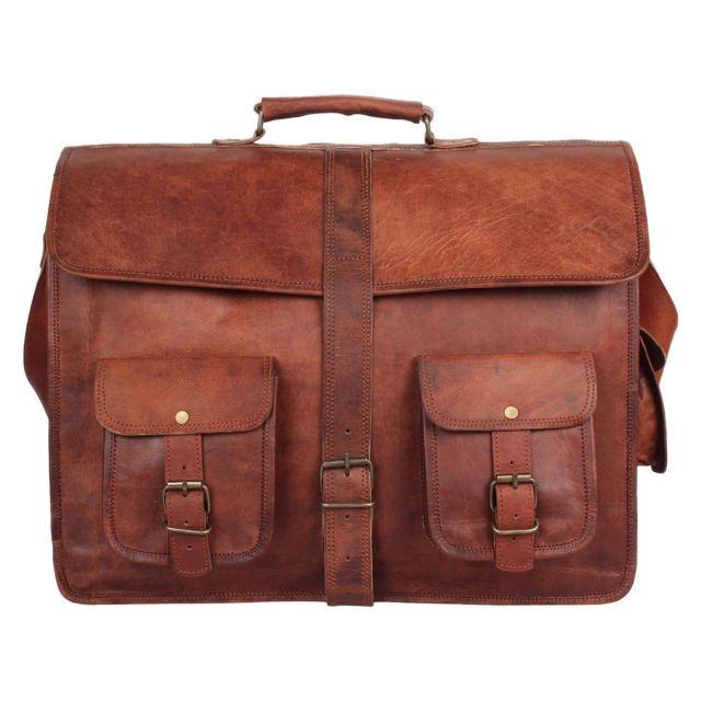 18 Large Brown Leather Bag for Men Messenger Bag Shoulder Bag Mens