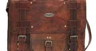Amazon.com: Handmade_world Leather Messenger Bags for Men Women Mens