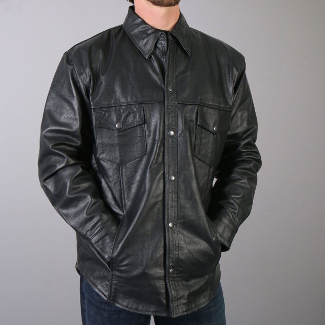 Leather shirts: new trend in   town