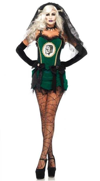Deluxe Bride of Frankenstein Halloween Costume from Leg Avenue