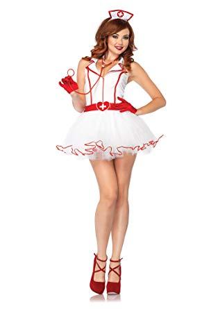 Amazon.com: Leg Avenue Women's 2 Piece Ravishing RN Nurse Costume