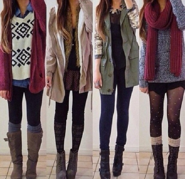 jacket, winter outfits, winter outfits, leggings, leg warmers, boots