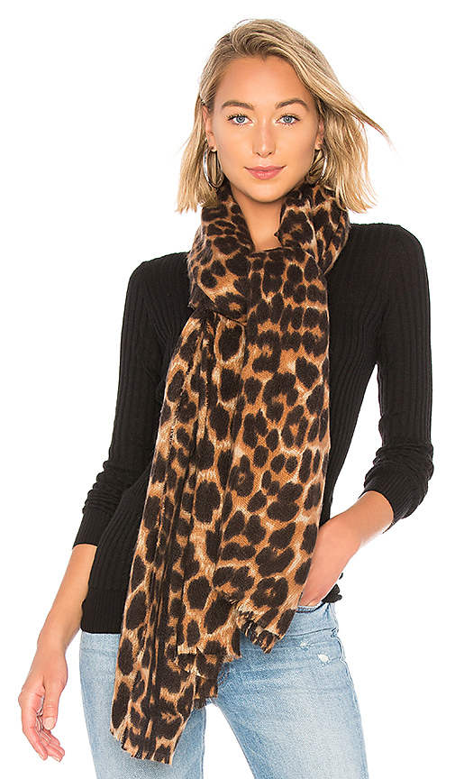Hat Attack Leopard Scarf in Leopard | REVOLVE