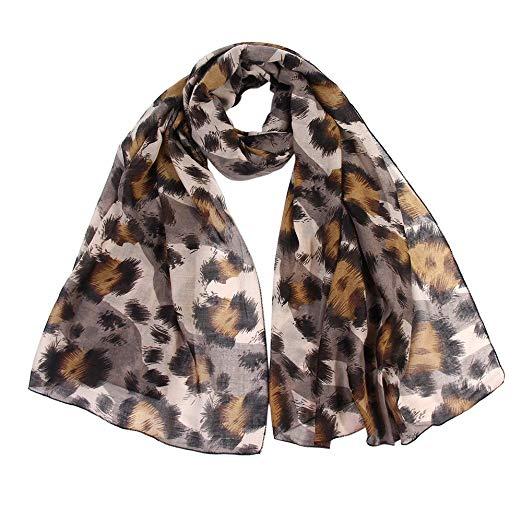 Lightweight Leopard Scarf,Women Ladies Leopard Print Scarf Wrap
