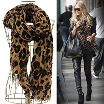 Amazon.com: Smartele Star Favorite Coffee Oversized Leopard Scarf