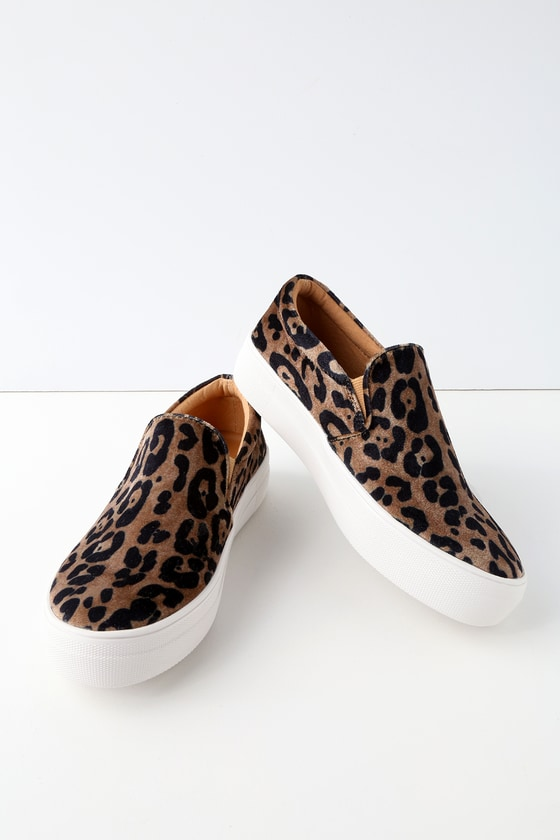 Steve Madden Gills - Leopard Print Sneakers - Slip-On Shoes