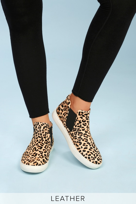 Coconuts Harlan - Pony Fur Sneakers - Leopard Sneakers