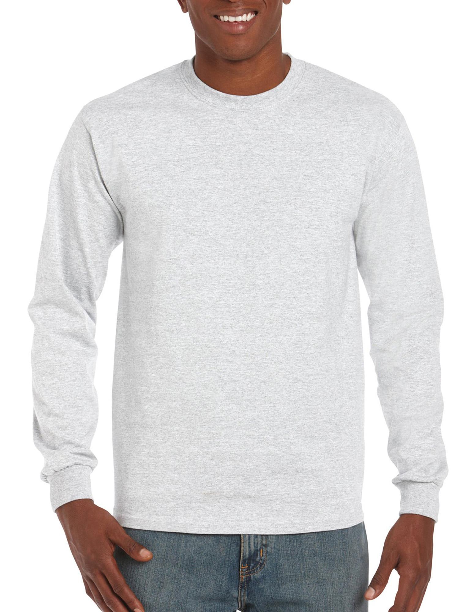 Gildan - Gildan Mens Classic Long Sleeve T-Shirt - Walmart.com