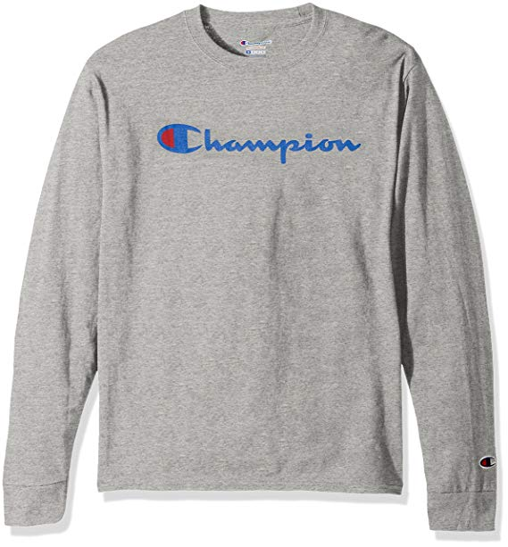 Amazon.com: Champion LIFE Men's Cotton Long Sleeve Tee: Clothing
