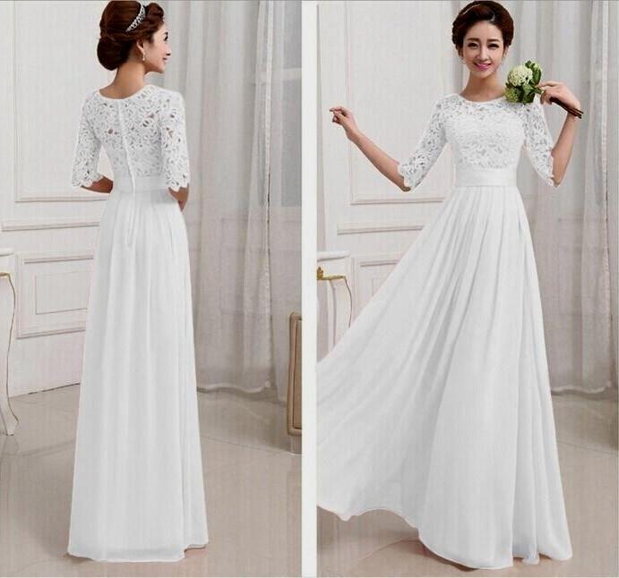 long white maxi dress Naf Dresses