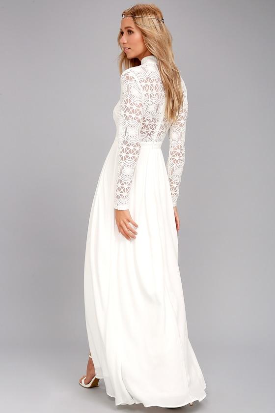 Stunning Lace Dress - White Lace Dress - Lace Maxi Dress