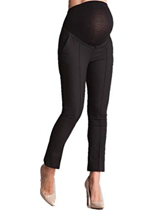 Seraphine Women's Tailored Cropped Over Bump Maternity Pants in