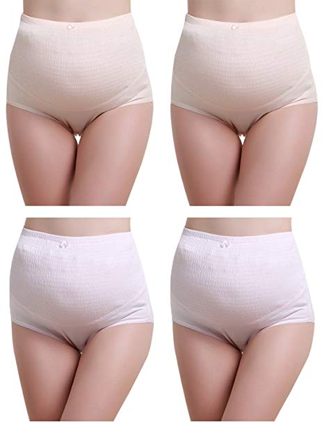 Tububa High Cut Waist Maternity Panties Pregnancy Underwear Briefs