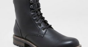 Men's Boston Casual Fashion Boots - Goodfellow & Co™ Black : Target