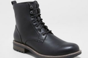 Men's Boston Casual Fashion Boots - Goodfellow & Co™ Black : Target