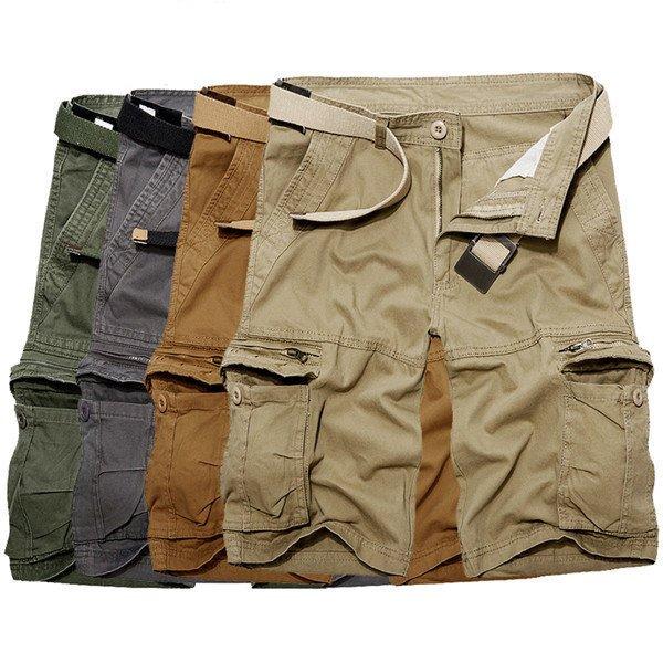Mens Shorts Military Fashion Loose Big Pockets Style Men Cargo Short