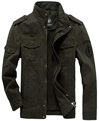 Amazon.com: JEWOSOR Men's Military Style Air Force Jacket Military