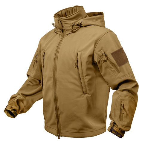 Coyote Brown Special Ops Soft Shell Waterproof Jacket | Military
