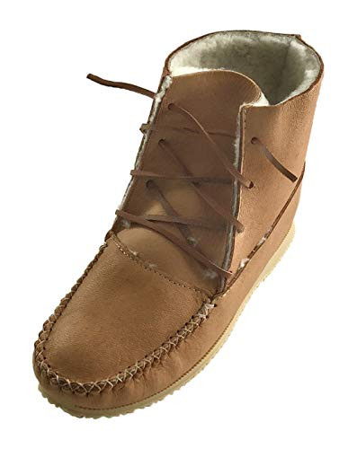 Amazon.com | Bastien Industries Men's Sheepskin Lined Moose Hide