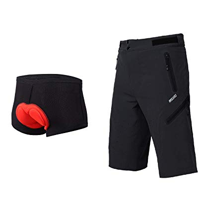 Amazon.com: ARSUXEO Outdoor Sports Men's MTB Cycling Shorts Mountain