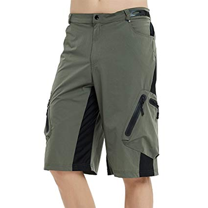 Amazon.com: Mounteen Mens Mountain Bike Shorts, Water Repellent MTB
