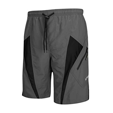 Amazon.com : Santic Men's Cycling Shorts Loose-Fit 4D Padded Bike