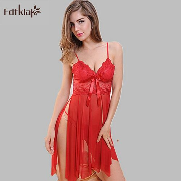 Sexy lingerie women sleepwear night dress see through nightgown