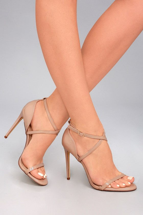 High attitude with nude high   heels