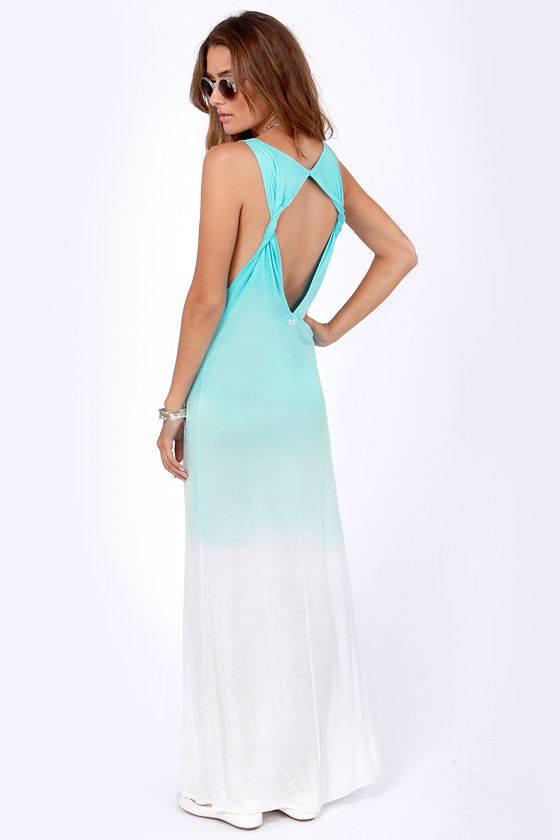 RVCA Dahomey Dress - Aqua Blue Dress - Maxi Dress - $42.00