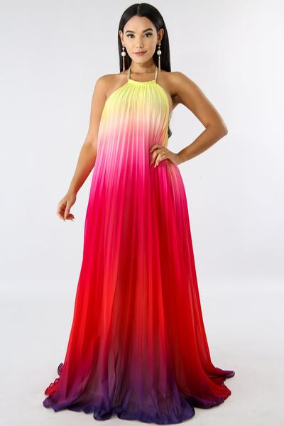 Ombre Maxi Dress u2013 33 Wishes