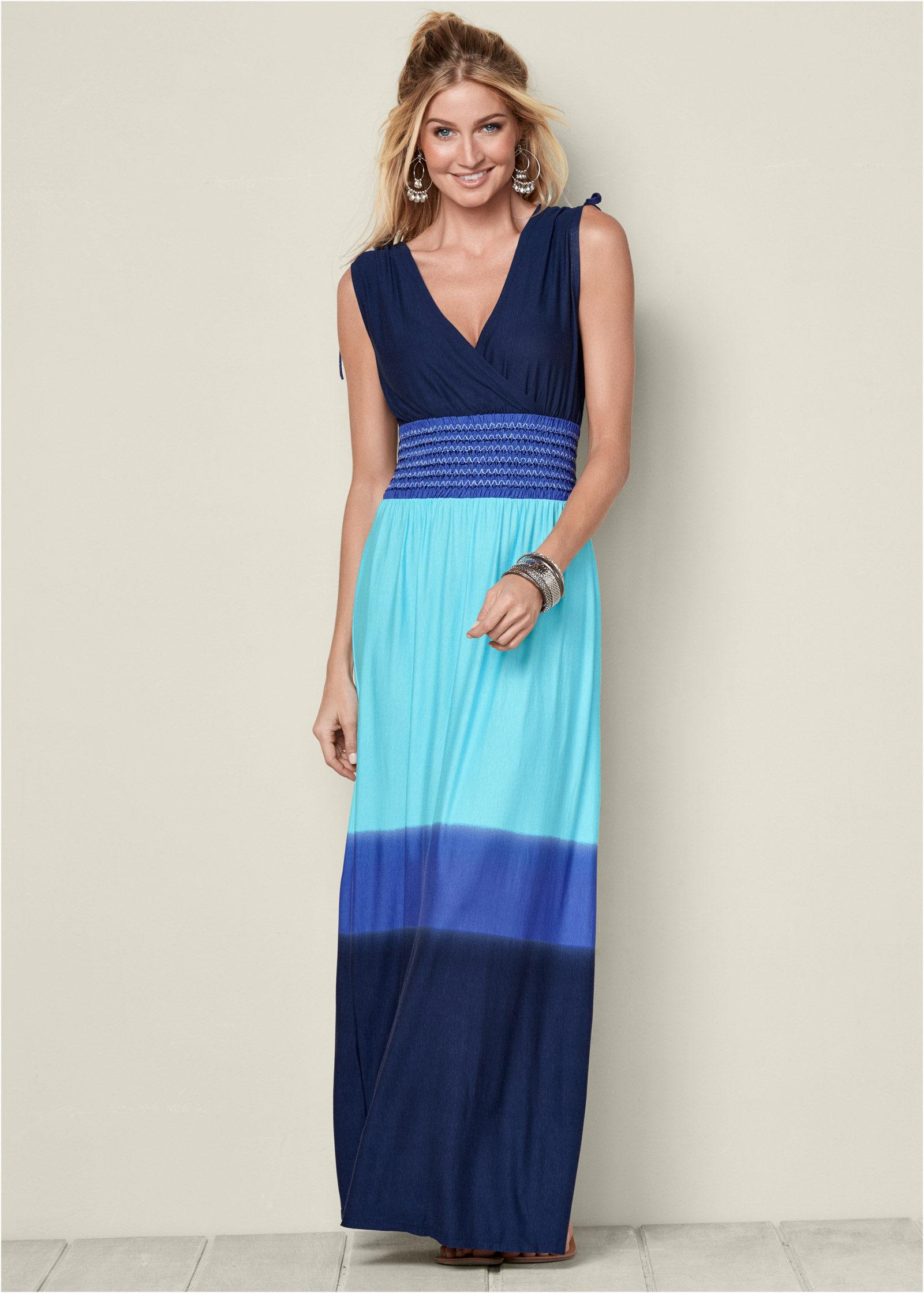 OMBRE MAXI DRESS in Blue Multi | VENUS