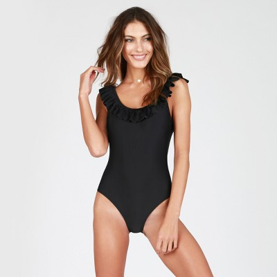 Women's Ruffled One Piece Swimsuit - Sugar Coast By Lolli : Target