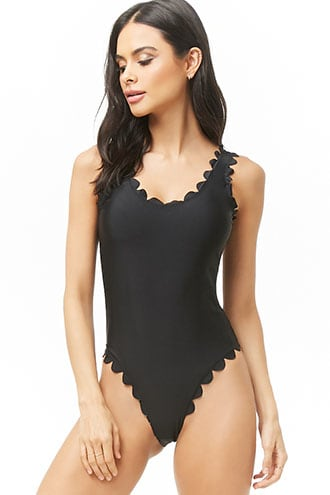 Vero Moda Scalloped One-Piece Swimsuit | Forever 21