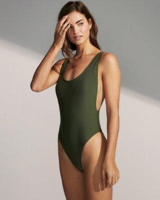 High Leg One-piece Swimsuit | Express