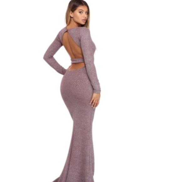 Windsor Dresses   Vivienne Lavender Glitter Open Back Dress   Poshmark
