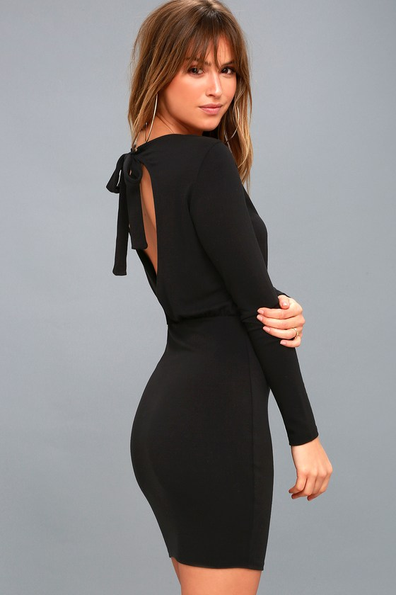 Sexy Black Dress - Open Back Dress - Bodycon Dress