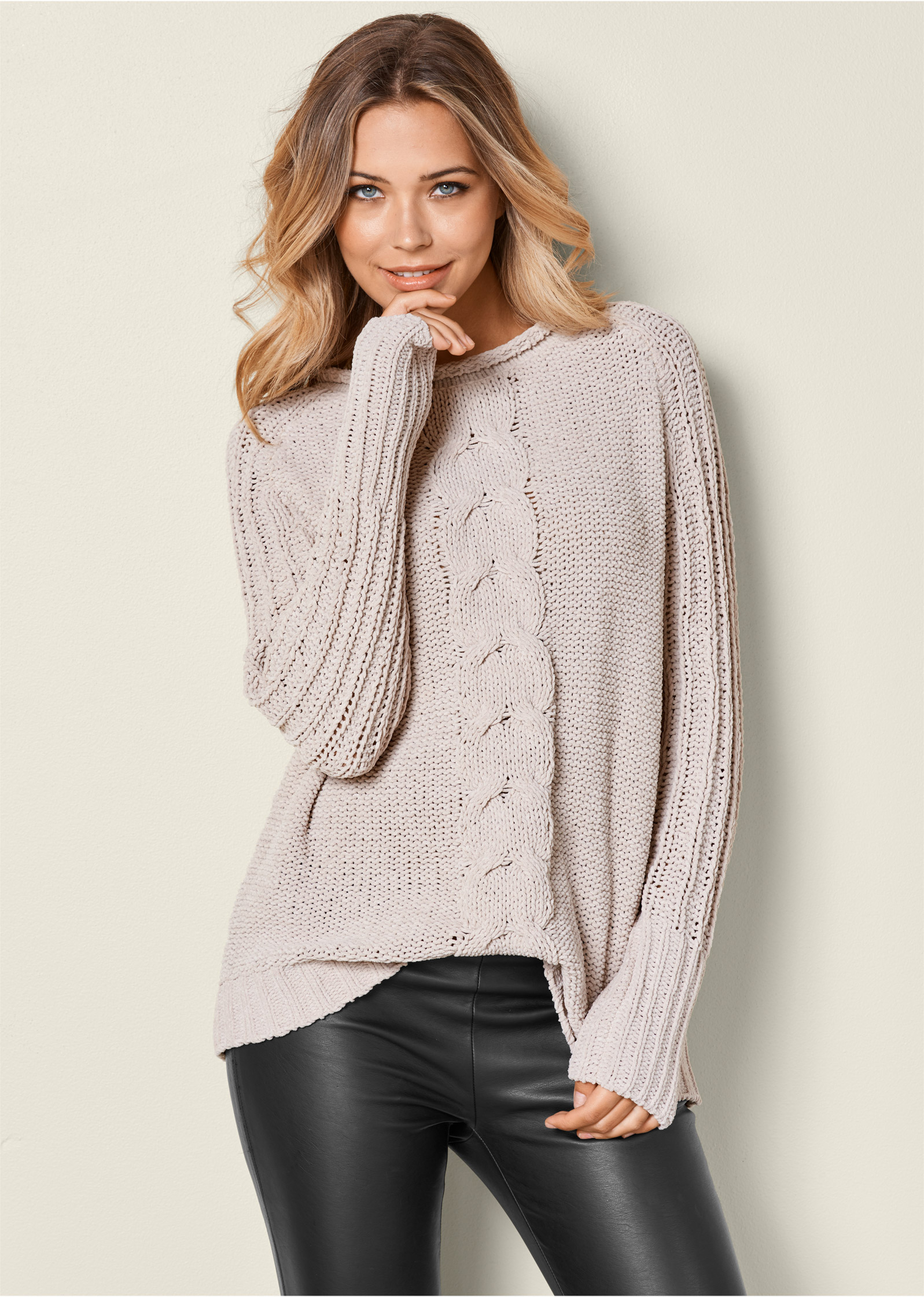 VENUS | OVERSIZED SWEATER in Beige