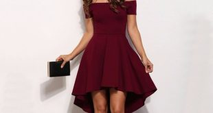 Vintage 2018 Women Sexy Slash neck Solid color Party dress Autumn