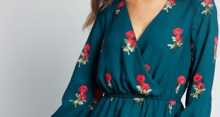 Reservations Made Peplum Top in Teal Floral | ModCloth