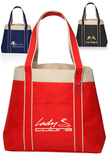 Personalized Donna Polyester Tote Bags | TOT38 - DiscountMugs