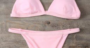 25% OFF] [HOT] 2019 Low Waisted Spaghetti Strap Bikini Swimwear In