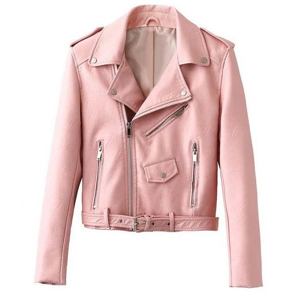 Into The Deep Leather jacket ($105) ❤ liked on Polyvore featuring